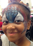 face painting spiderman Indianapolis