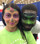 Day of the Dead event face painting Indianapolis