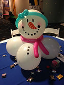 Snowman balloon decor Children's Museum Indianapolis