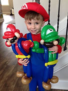 Mario Luigi Party balloon twisting Carmel Indiana