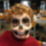face painting skull Culvers Indianapolis