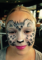 face painting cheetah Indianapolis Culvers Kids Night