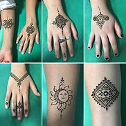 Henna tattoos school carnival Indy