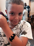 glitter tattoo batman Carmel party