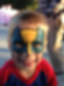 face painting super hero Zionsville