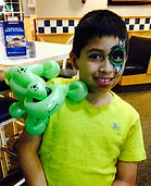 face painting balloon lizard Culvers Indy