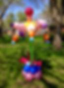 Balloon twisting yard art Carmel Indiana