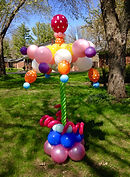 Balloon twisting yard art Carmel Indiana