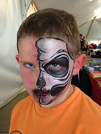 face painting skull corporate event Greenfield Indiana Grand Racing