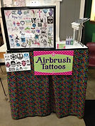 airbrush tattoo set-up Star Wars event