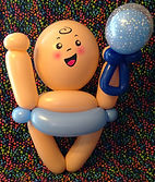 gender reveal balloon baby boy
