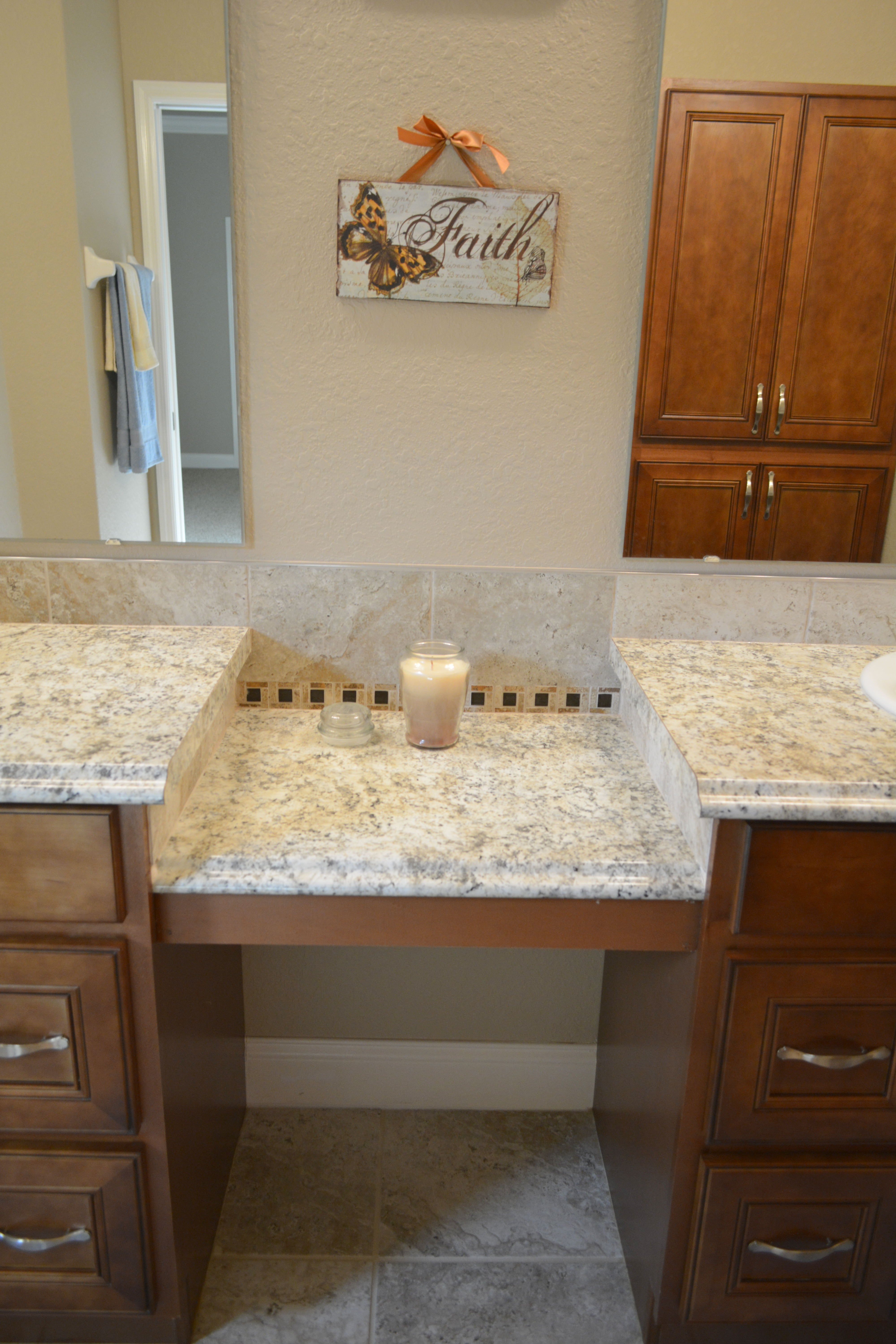 Master Vanity with Seating area
