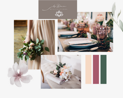 Green and Pink Soft and Dainty Wedding