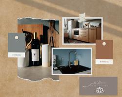 Grey and Brown Realistic Interior Design