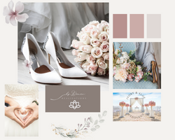 Beige and Pink Soft and Dainty Wedding