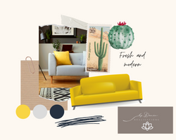 Yellow and Green DIY Collage Interior