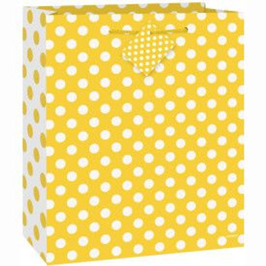 Bag Gift Medium Dots Yellow