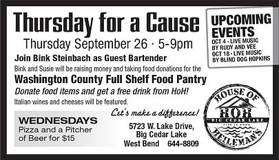 House of Heileman's Washington County Full Shelf Food Pantry