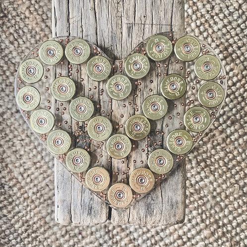 Shotgun Cartridge Heart Centrepiece
