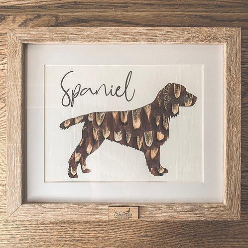 Spaniel Feather Frame