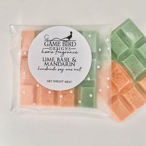 Lime, Basil & Mandarin Wax Melts