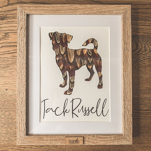 Jack Russell Feather Frame