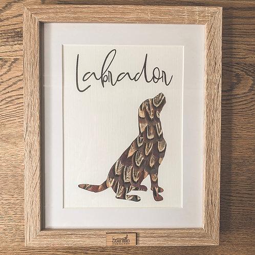 Labrador Feather Frame