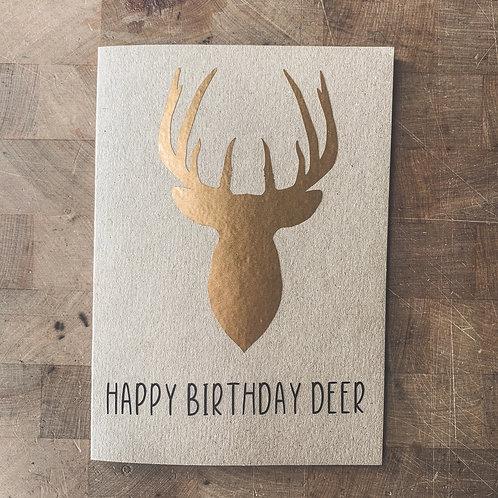Stag Birthday Card