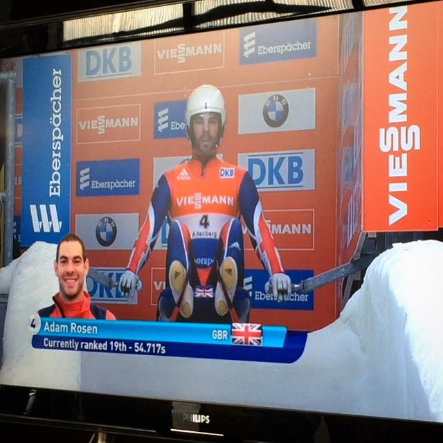 AJ at the Start in Altenberg