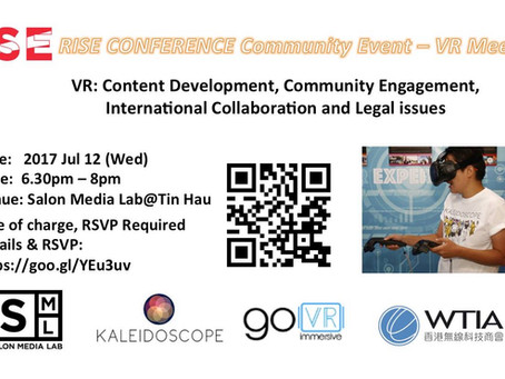 Go VR to Co-Host VR community event in collaboration with Kaleidoscope VR and RISE Conference