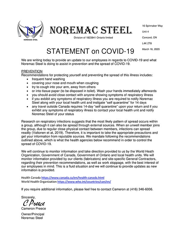Noremac Statement Employee Covid-19-1.jp