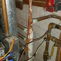 corroded boiler return line
