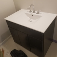 bathroom vanity installed