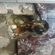 shower valve on outside wall