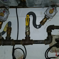 cooktop range gas manifold