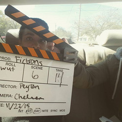 Filming of the short film Fictions