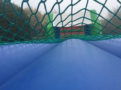 Under the scramble net!