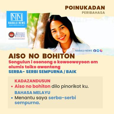 'Aiso no bohiton' peribahasa Kadazandusun