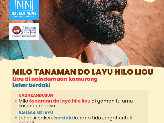 PERIBAHASA BAHASA KADAZANDUSUN 'MILO TANAMAN DO LAYO HILO LIOU'
