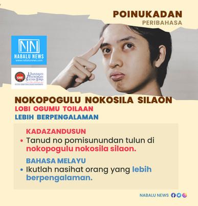 'Nokopogulu nokosila silaon' peribahasa Kadazandusun