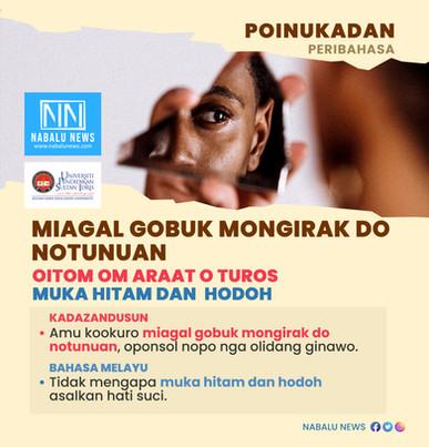 PERIBAHASA KADAZANDUSUN 'MIAGAL GOBUK MONGIRAK DO NOTUNUAN'