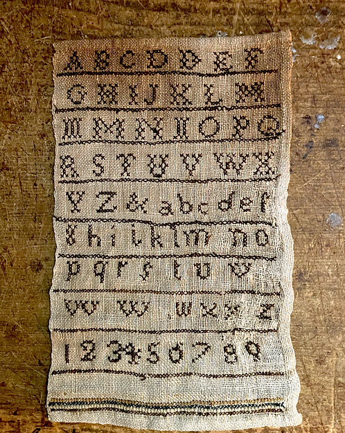 Small Early Primitive New England Marking Sampler