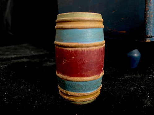 19th C Multi Colored Turned Wood Bank