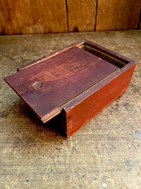 Miniature Red Slide Top Box, 1800s