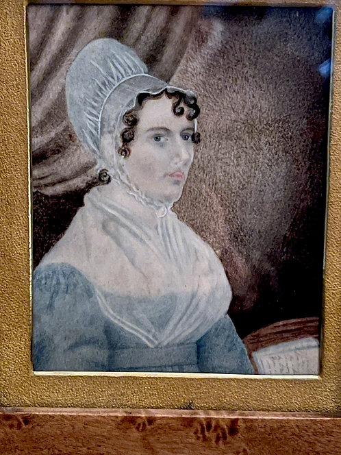 Ca 1825 Watercolor of a Lady