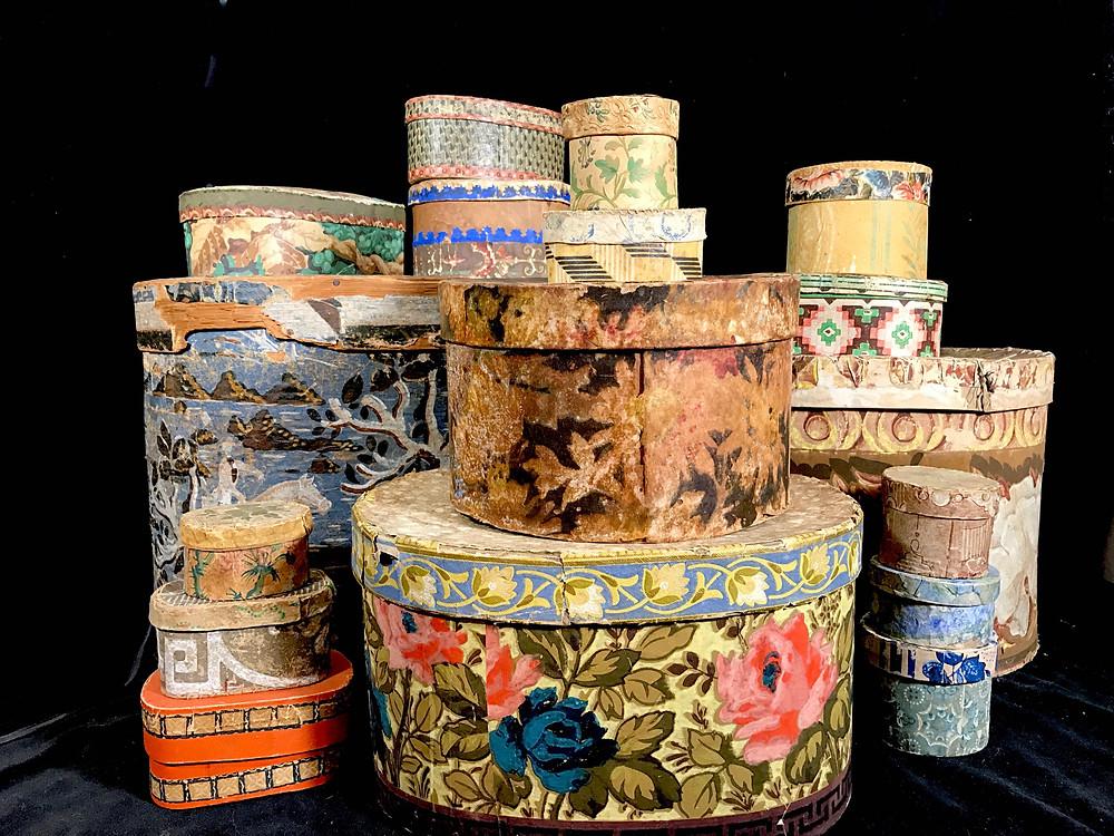 Antique American Bandboxes