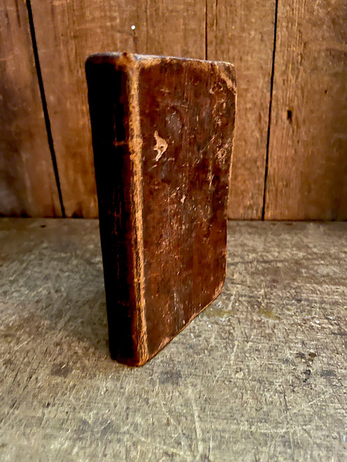1785 Leather Book with Inscriptions