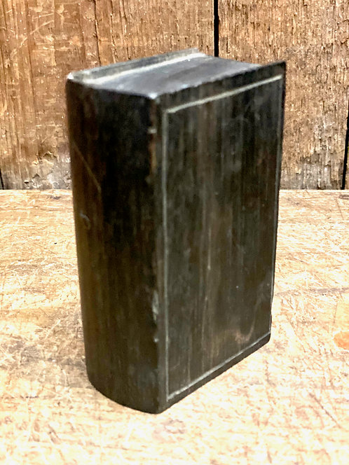 19th C Hand Carved Ebony Book