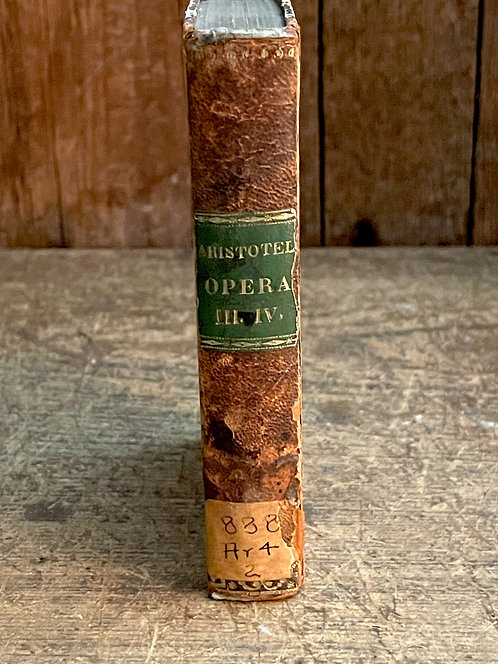 1831 Leather Book with Marbelized Covers
