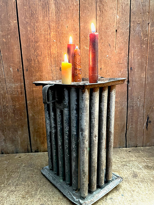 19th C 24 Candle Mold in Original Paint